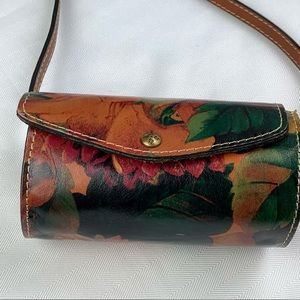 Patricia Nash Floral Amatrice Barrel Crossbody Bag